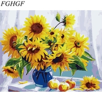 FGHGF Flower And Fruit Framless Picture Home Decor DIY Acrylic Oil Painting By Numbers Wall Art
