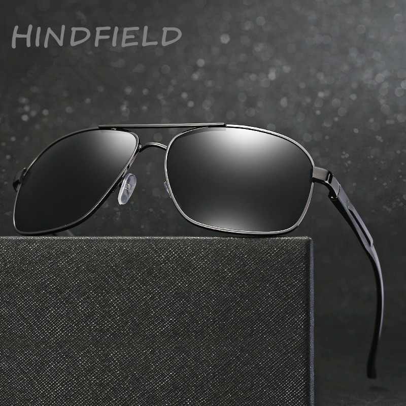 2c9de6d1056 HINDFIELD Aluminum sunglasses men brand designer Driver Mirror polarized  sunglasses Outdoor Sports Fishing Eyewear For Men