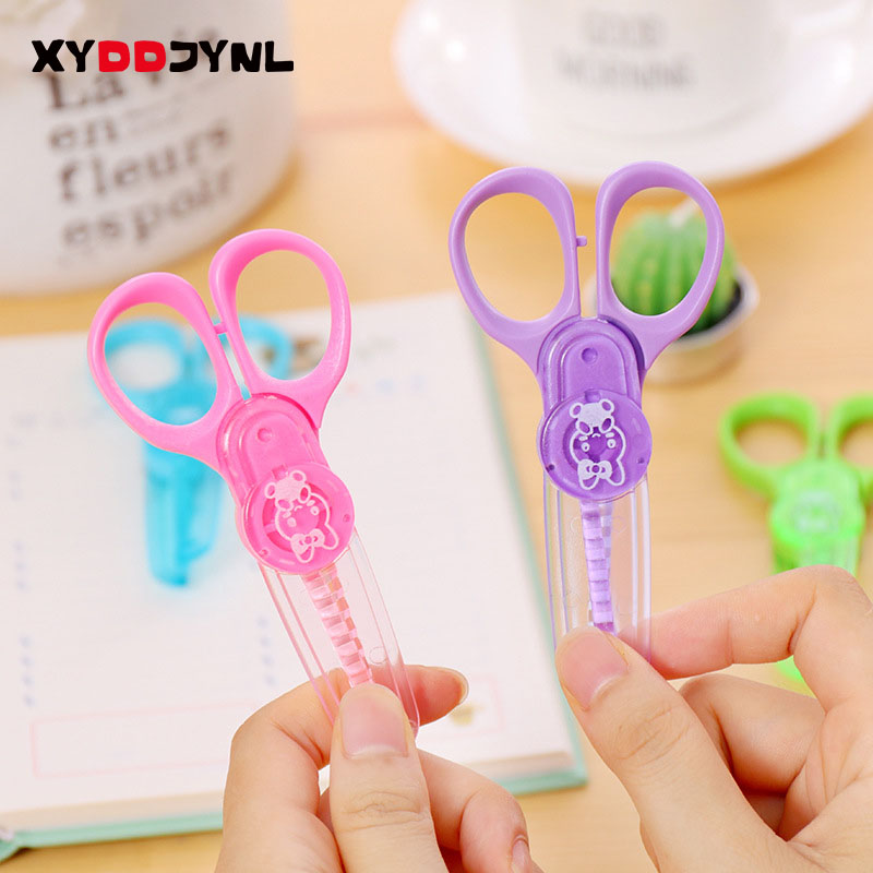 1 PCS Mini Scissors Handmade DIY Photo Album Laciness Plastic Children Safety Scissors Tesoura Paper Lace Diary Decoration