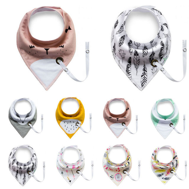 Baberos de algodón de alta calidad para niños y niñas Toalla de Saliva baberos Bandana triangulares para niños cabeza de bebé