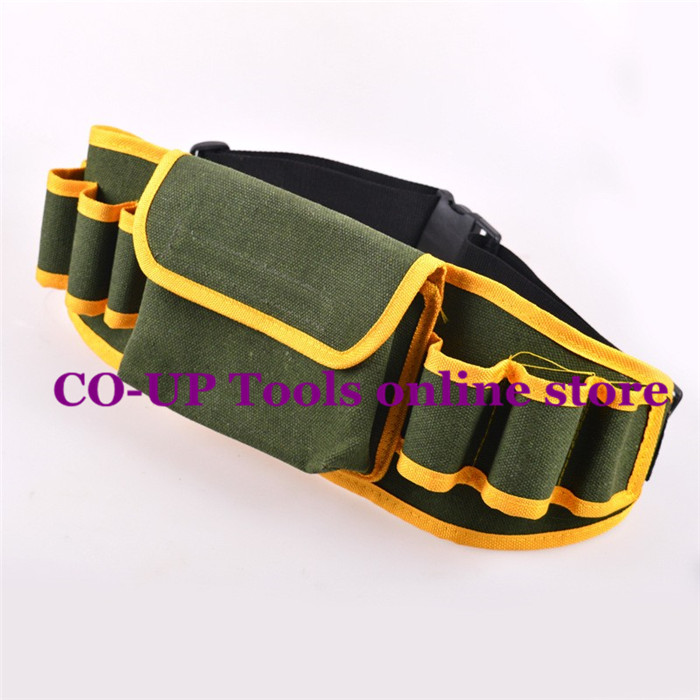 Multifunction Hardware Mechanic Electrician Canvas Tool Bag Safe Belt Kit Pocket Pouch Organizer Bags canvas kit multifunction waist bag electrician repair water resistant pockets tool bag