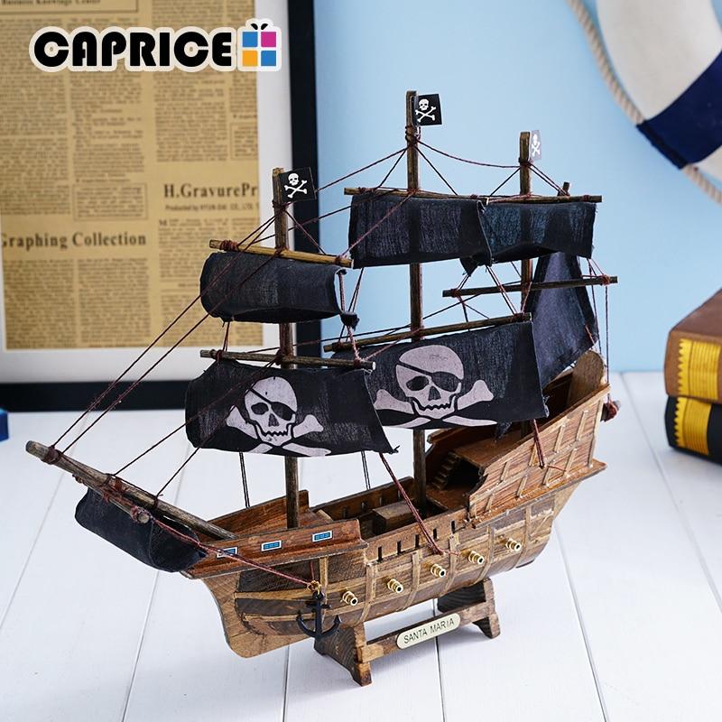 Sailboat Home Decor: Handmade Wooden Sailing Boats Home Decor Retro Ship Crafts