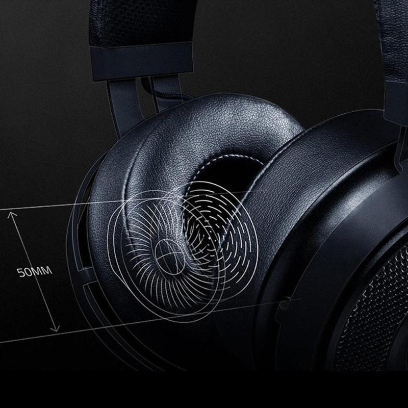 Casques de jeu Razer Kraken 2m filaire noir/blanc 32Ω 123dB casque de jeux sur l'oreille casque avec Microphone pour jeux LOL PUBG - 4