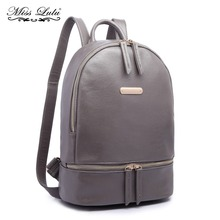 Miss Lulu Women Backpack School Bags for Teenage Girls Book Bag PU Leather  Shoulder Rucksack Female ce0e7a10e033