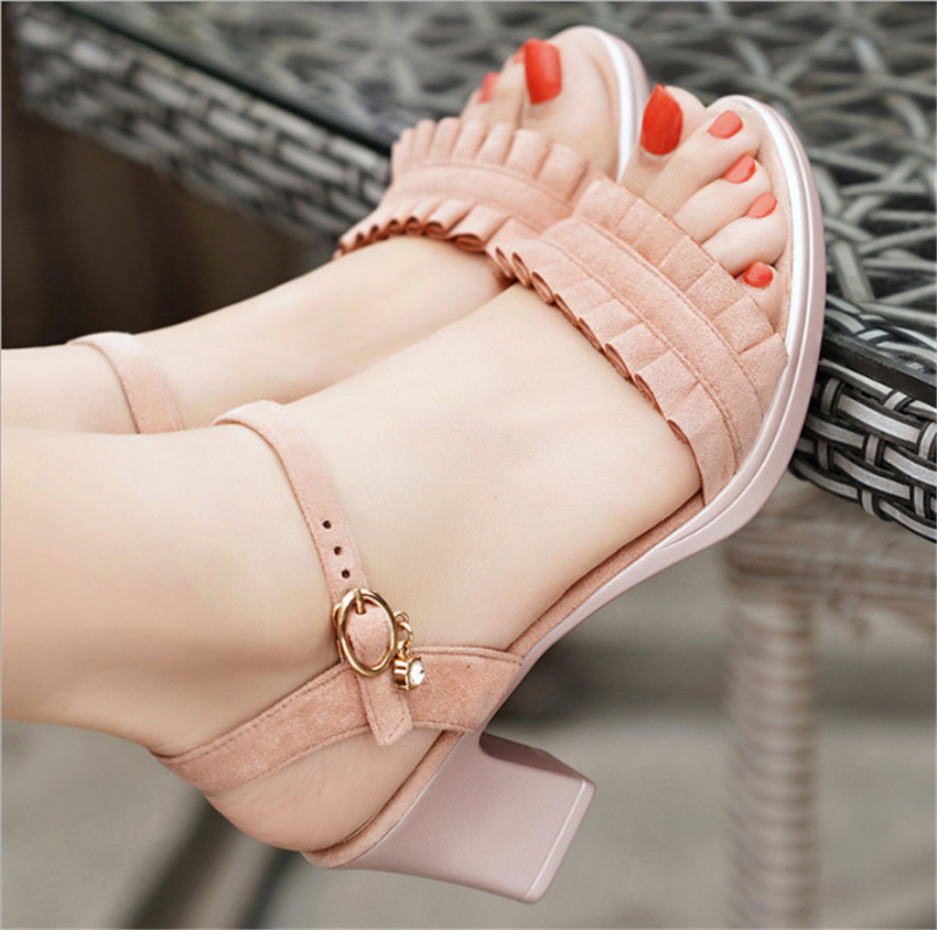 ZOUDKY 2018 summer new style with women s fashion lace Rome sandals
