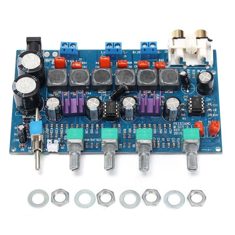 TPA3116D2 50W+50W+100W 2.1 Channel Digital Audio Amplifier Board Subwoofer AMP for 12v 24v Car