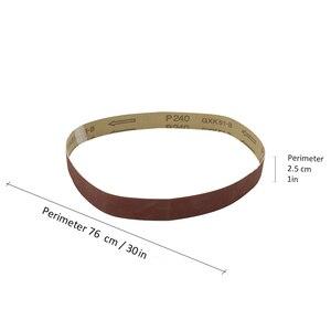 Image 5 - 10pcs Abrasive Sanding Belts 400 Grit 762 * 25 mm for Electric Belt Sanders Bench Grinder Grinding Polishing Tool