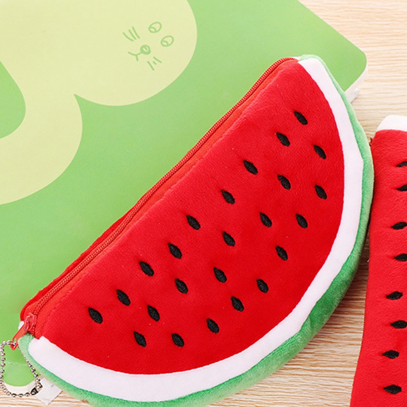 1 Pc Newest Practical Big Volume Watermelon Fruit Kids Pencil Bag Case Gift Cosmetics Purse Wallet Holder Pouch School Supplie in Pencil Bags from Office School Supplies