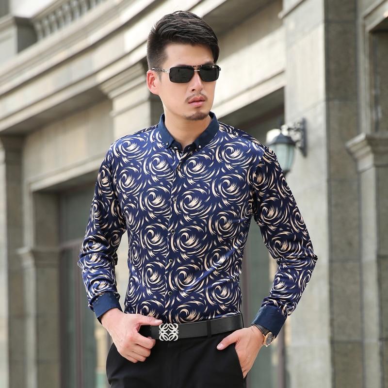 Manches Chemises De Casual Plein Hommes À Style Longues Slim Chemise Vêtements Hiver Britannique Robe wTX55dq