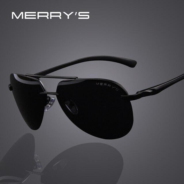 MERRY S Marca Homens 100% óculos Polarizados de Alumínio Frame Da Liga de  Óculos de Sol 3ff8eb652c