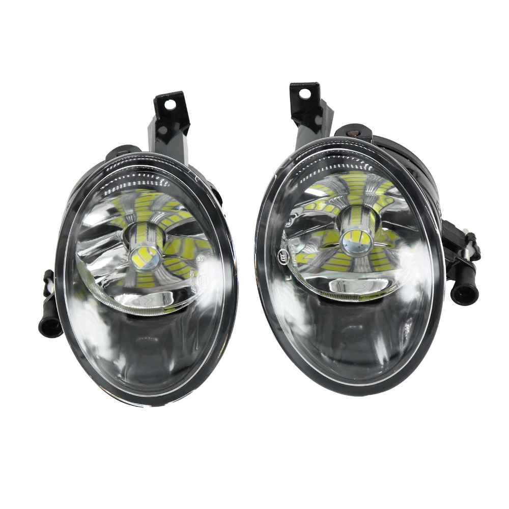 2Pcs For VW Caddy 2011 2012 2013 2014 2015 2016 Car-styling Front LED Fog Light Fog Lamp With LED Bulbs hot sale abs chromed front behind fog lamp cover 2pcs set car accessories for volkswagen vw tiguan 2010 2011 2012 2013