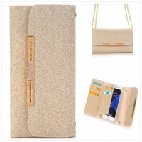 Luksusowe Klejnotami Leather Wallet Phone Case Do Samsung Galaxy S7 krawędzi Odwróć Karty Pokrywa Podstawka Magnetyczna Dla Samsung Telefon S7 torby