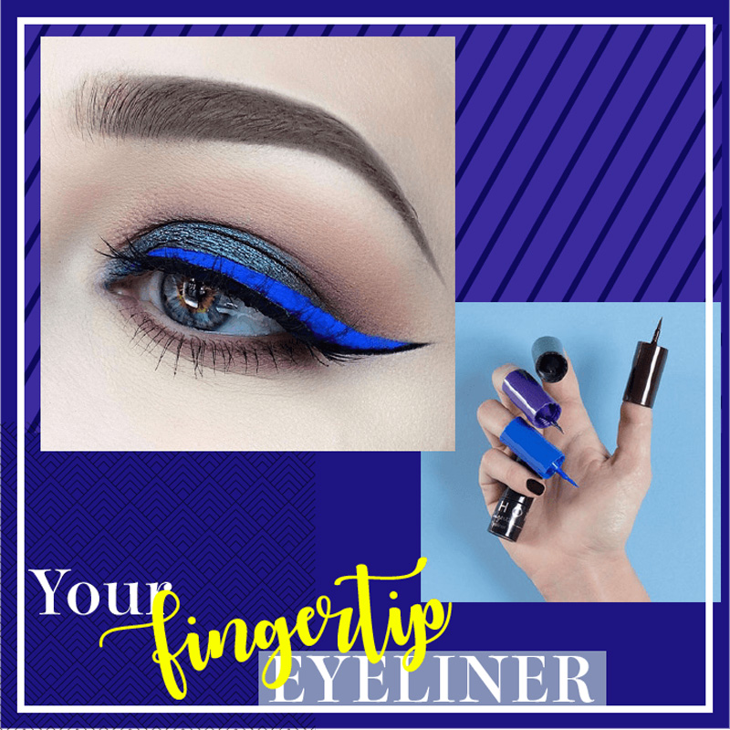 Beauty Essentials New 2 In 1 Double-ended Liquid Eyeliner Makeup Waterproof Eye Liner Pencil Quick-dry Ultra Black Blue Soft Natural Long-lasting