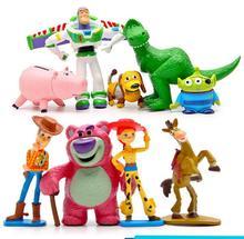 цена на 9pcs/set Toy Story 4 Buzz Lightyear Woody Jessie Lotso Bullseye Horse Action Model  Figure Toys Gifts