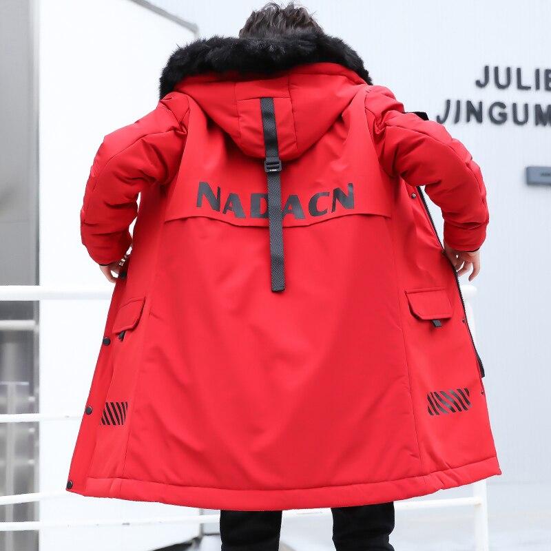 Hiver hommes veste vêtement d'extérieur pour homme manteau à capuche vêtements de neige longs hommes rembourré Parka coton noir rouge 3XL
