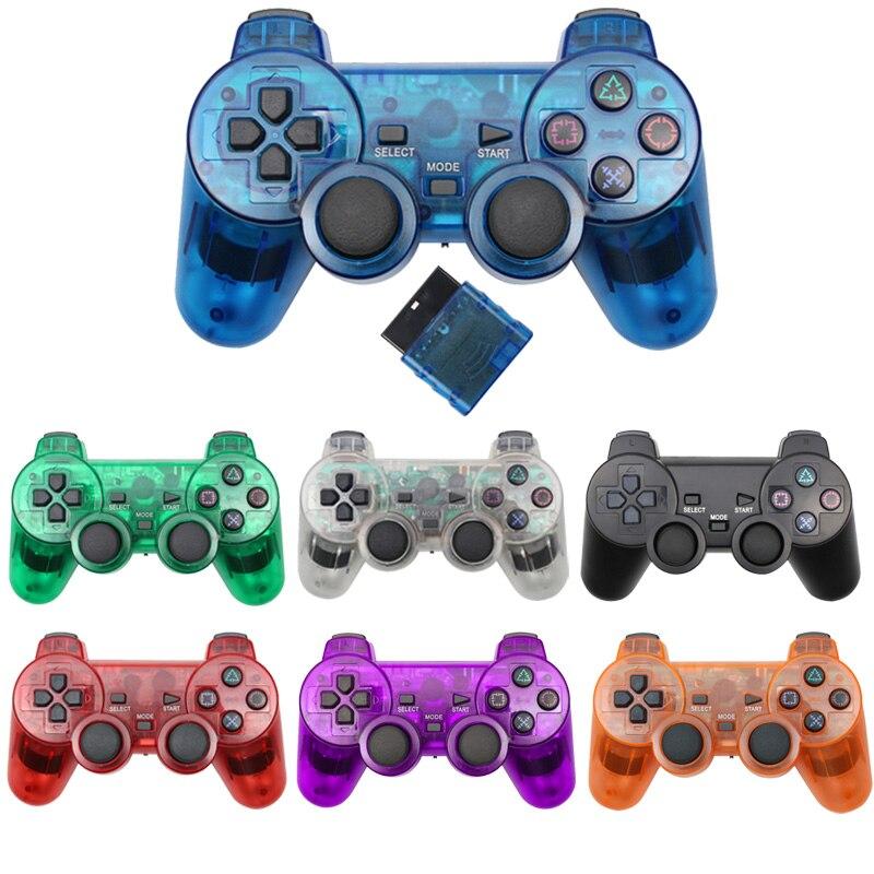 Controlador sem fio Para Sony Playstation Controle Gamepad Vibration Para mando 2 PS2 controle Joystick ps2 sem fio