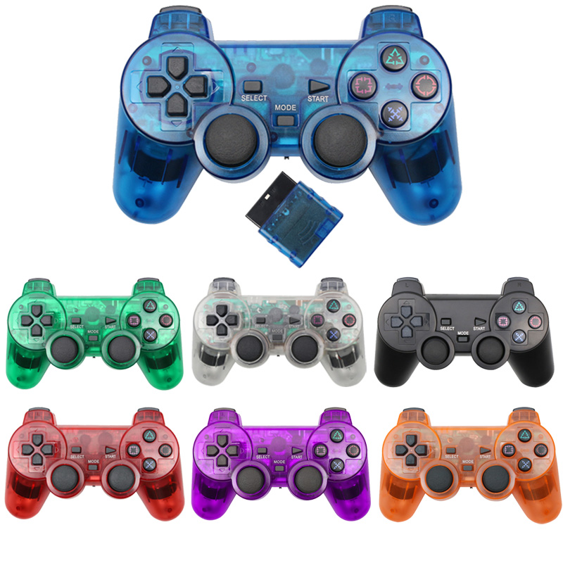 Wireless Controller For Sony Playstation 2 Gamepad Vibration Controle For mando PS2 Joystick controle ps2 sem fio image