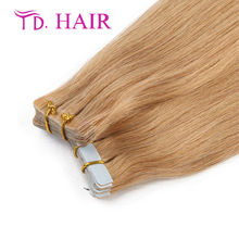#27 New 7A brazilian straight virgin hair Double Drawn Skin Weft Tape In Hair Extensions Light grey Tape In virgin Human Hair