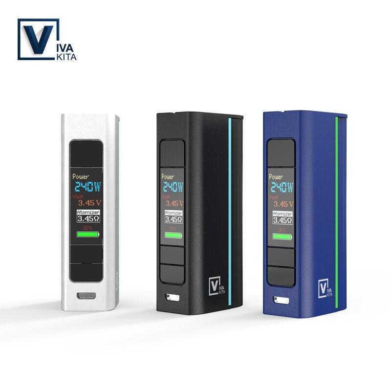 Vivakita Elektronische Zigarette Vape Mod Bewegen Grand 80 W Box Mod Fit Zerstäuber 510 Gewinde einzelnen 18650 Batterie e zigaretten mod vape