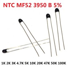 Ntc térmico resistor térmico mf52 NTC-MF52AT 1k 2k 3k 4.7k 5k 10k, 20 peças 20k 47k 50k 100k 5% 3950b 1/2/3/4. kit 7/k ohm r