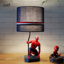 Creative Cartoon Spider Man Captain America Led Table Lamp Children's Room Desk Decoration Baby Bedside Light Kids Birthday Gift(China)
