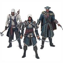 Free Shipping Assassins Creed 4 Black Flag Connor Haytham Kenway Edward Kenway PVC Action Figure Toys hidden blade