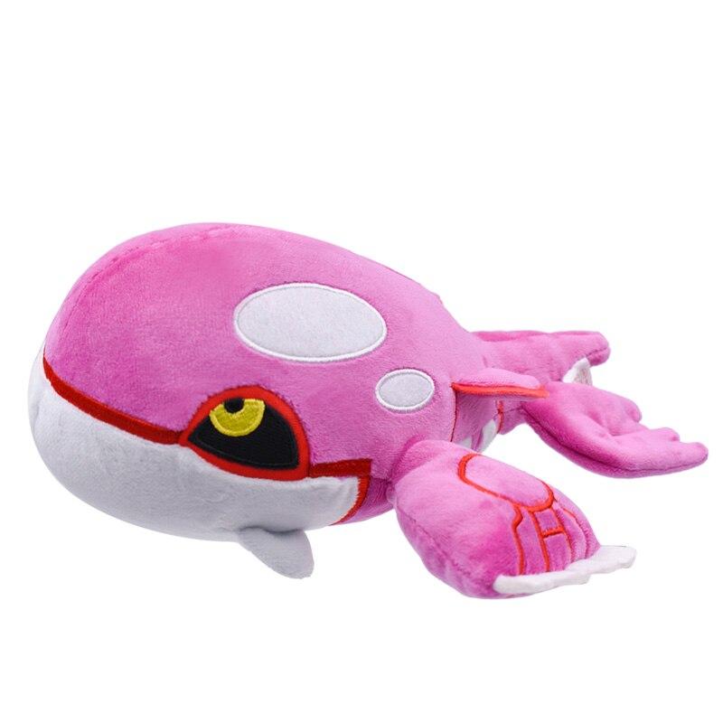 Anime Shiny Kyogre Stuffed Plush Cartoon Peluche Dolls Christmas Gift Baby Toys For Children 27 Cm