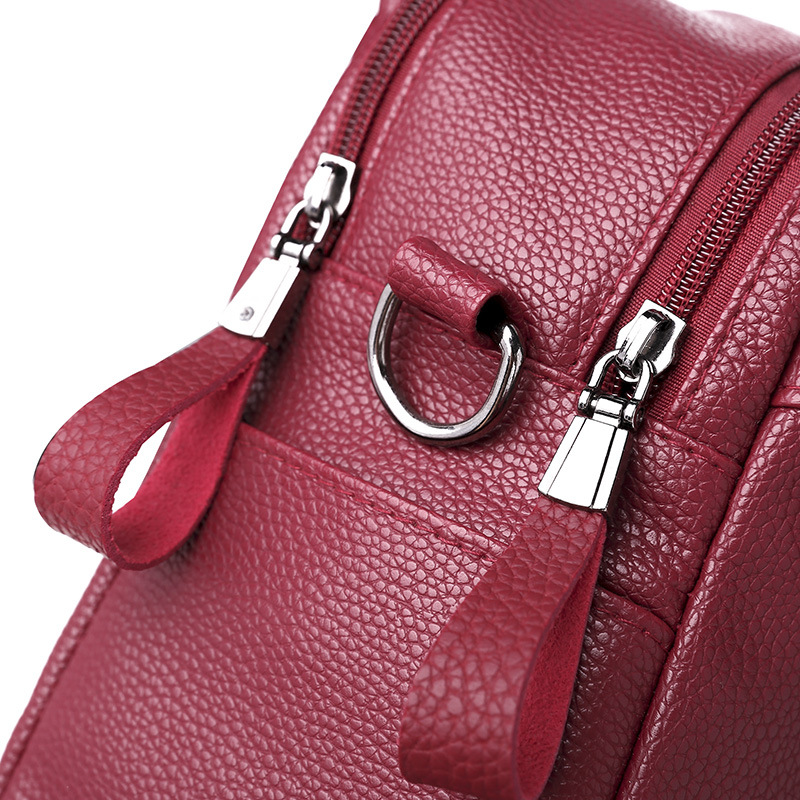 Women Leather Backpack High Quality Bolsas Mochila Feminina Girl Schoolbag Shoulder Bag Luxury Women Backpacks Sac in Backpacks from Luggage Bags
