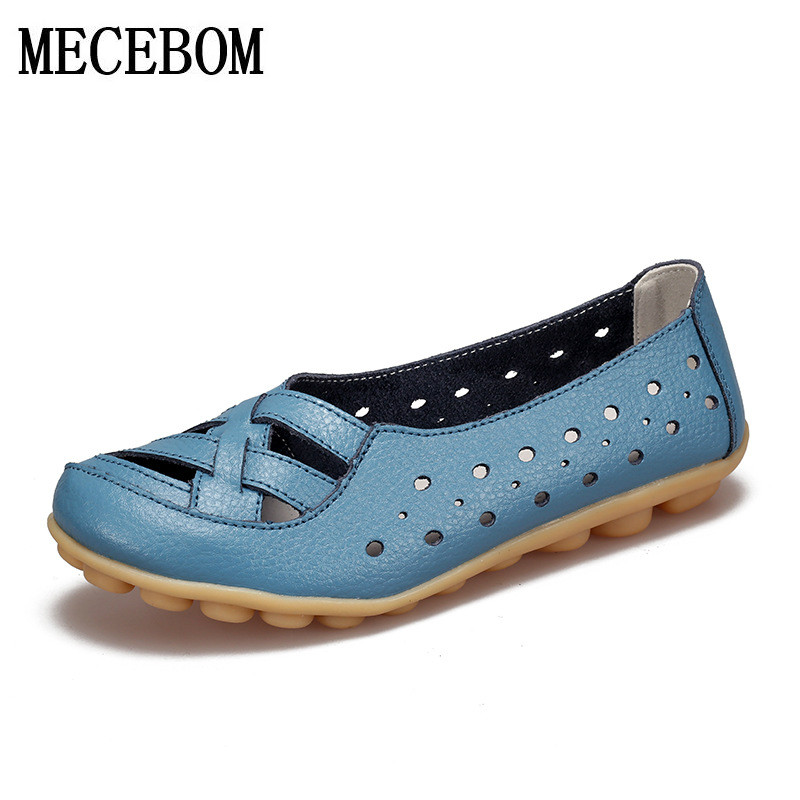 2018 Spring New Fashion  Leather Woman Flats Moccasins Comfortable Woman Shoes Cut-outs Leisure Flat Woman Casual Shoes 1166W 2017 autumn fashion real leather women flats moccasins comfortable summer ladies shoes cut outs loafers woman casual shoes st181