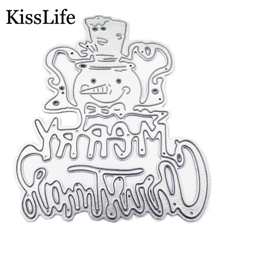 2019 New Snowman Merry Christmas Letter Metal Cutting Dies