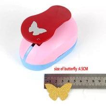 """Darmowa wysyłka 2 """"4.5 cm kształt motyla dziurkacz ręczny z pianki dziurkacz Craft Scrapbooking szkolne papier dziurkacz dziurkacza gilotyna do papieru"""