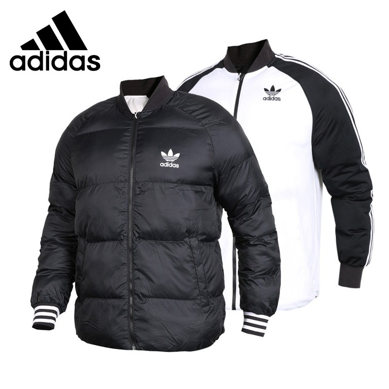 Original New Arrival  Adidas Originals SST JACKET Men's  Reversible Down Coat Hiking Down Sportswear