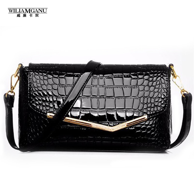 WILIAMGANU New High-grade female package 2017 Fashion Women Crocodile Grain Leather Handbag Shoulder Slope Across Packets