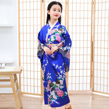 Japanese Style Children Kimono Dress Vintage Tradition Yukata Japan Elegant Dancing Performances Gowns Halloween Cosplay Costume(China)