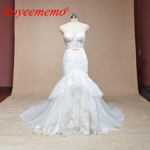 Image 1 - 2019 không tay mermaid lace wedding dress hot bán wedding gown tùy chỉnh thực hiện nhà máy bán buôn giá bridal dress