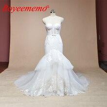 2019 sem mangas sereia laço vestido de casamento venda quente vestido de casamento feito sob encomenda fábrica preço por atacado vestido de noiva