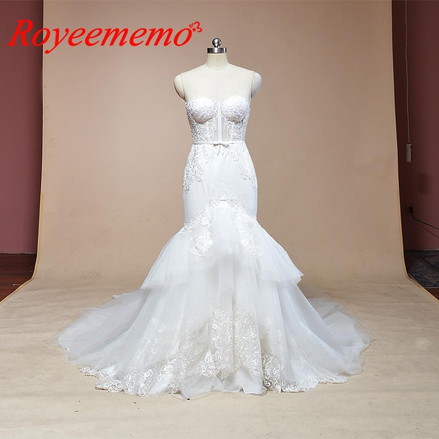 Good Deal 2019 Sleeveless Mermaid Lace Wedding Dress Hot Sale