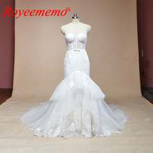 2019 sleeveless mermaid lace wedding dress hot sale wedding gown custom made factory wholesale price bridal dress