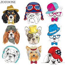 ZOTOONE Cartoon Dog Patch Appliques Iron On Transfers For Kids Clothes Diy T-shirt Accessory New Design Heat Transfer Vinyl