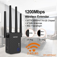 Hot new Wireless Extender Wifi Repeater/Router 4*2dbi 1200Mbps Dual Band 2.4&5.8Ghz Wifi Antenna Long Range Signal Amplifier