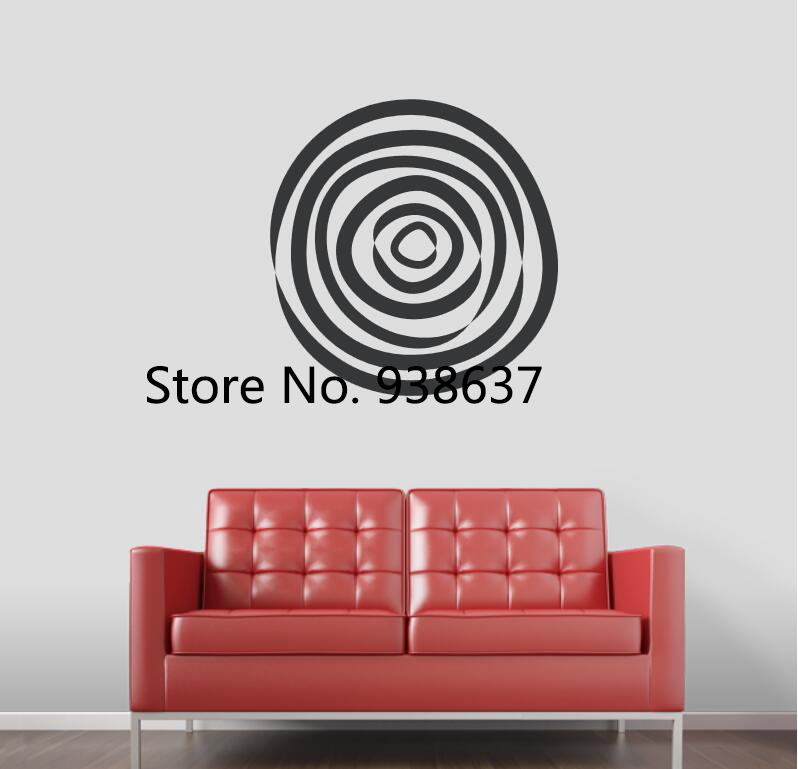 Abstract Circle Wall Art Decal Living Room Sofa Background Home Decoration Vinyl Wall Stickers Bedroom Removable Decals ZB072