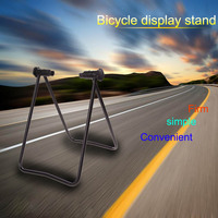 Universal Flexible Bicycle Bike Stand Display Triple Wheel Hub Bike Repair Stand Kick Stand For Parking