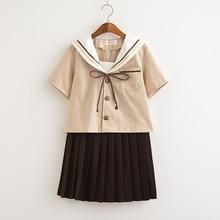 School uniform set Student tie Sailor suit Table costume Japanese school Girl Summer