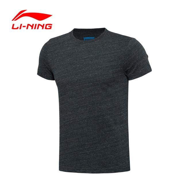 Li-Ning Men's Cotton Breathable LiNing Sports T-shirts Summer Short Sleeve Round Neck Leisure T-Shirt GTSL007 MTS1828