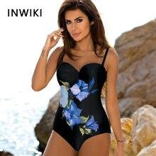 2019 New Flower One Piece Swimsuit Female Fused Swimwear Swimsuits Push Up Plus Print Summer Bathers Bathing Suit For Women недорого