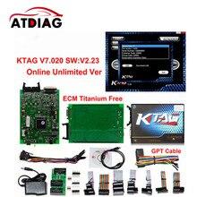 KTAG Online Master Ktag V7.020 V2.23 No Token Limit K Tag 7.020 7020 ECU Programmer K-Tag ECU Chip Tuning Tool Gifts ECM Winols