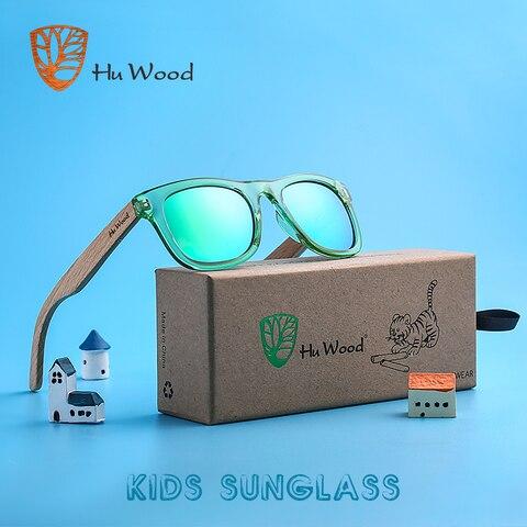 HU WOOD Brand Design Children Sunglasses Multi-color Frame Wooden Sunglasses for Kids Boys Girls Sunglasses Wood GRS1001 Pakistan