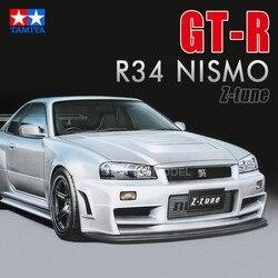Assemblage de voiture, modèle de voiture Nismo Skyline GTR R34 z-tune, Buidling 1/24 Tamiya kit de bricolage, échelle 24282