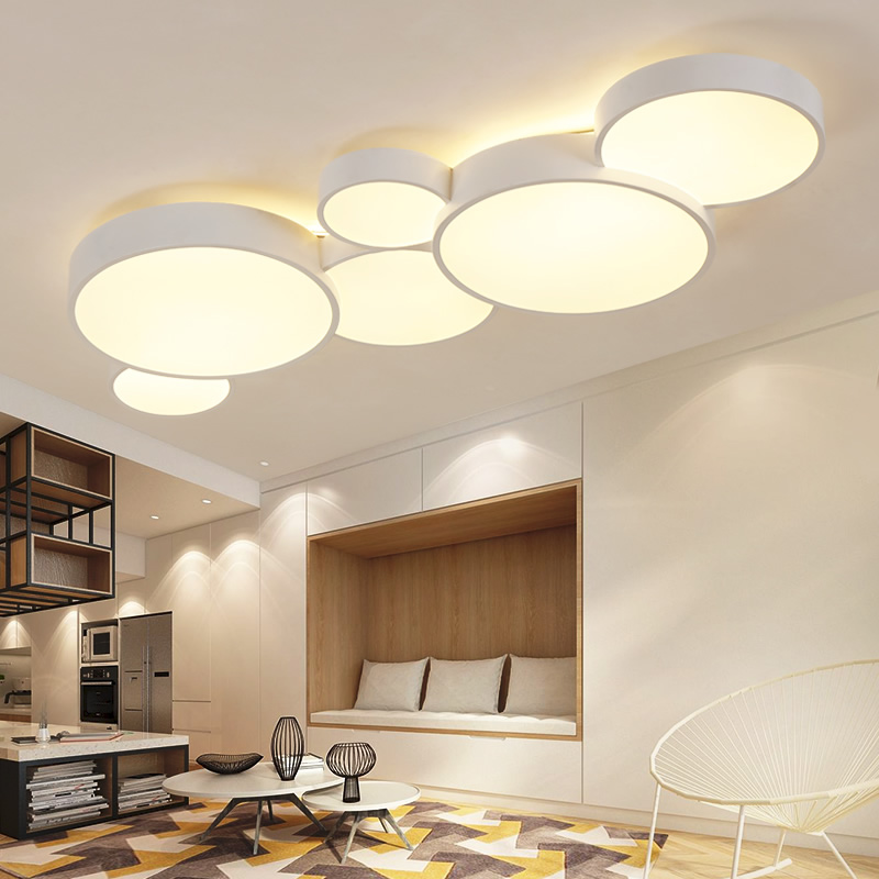 US $130.74 22% OFF|2018 Led Ceiling Lights For Home Dimming Living Room  Bedroom Light FIxtures Modern Ceiling Lamp Luminaire Lustre-in Pendant  Lights ...
