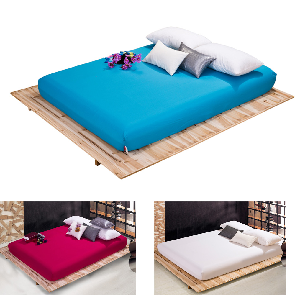 color 100 cotton fitted sheet full queen king size sabanas bed sheet bedsheet mattress cover. Black Bedroom Furniture Sets. Home Design Ideas